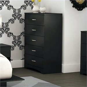 South Shore Maddox 5 Drawer Chest Pure Black