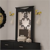 South Shore Maddox Contemporary Vertical Rectangular Mirror in Pure Black Finish