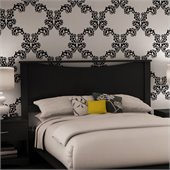 South Shore Maddox Contemporary Full / Queen Wood Panel Headboard in Black Finish