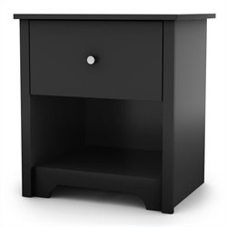 South Shore Breakwater Nightstand in Pure Black