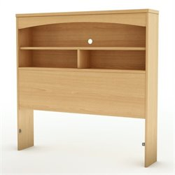 South Shore Shiloh Twin Bookcase Headboard in Natural Maple