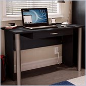 South Shore City Life Wood Computer Desk in Black Finish