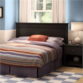 South Shore Breakwater Full/Queen Headboard in Pure Black Finish
