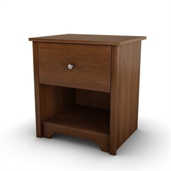 South Shore Concord 1 Drawer Nightstand in Somptuous Cherry