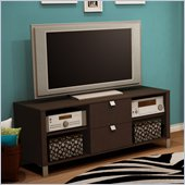 South Shore Cakao TV Stand in Chocolate Finish