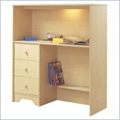 South Shore Newton Loft Kids 3 Drawer Desk With Hutch in  Natural Maple Finish