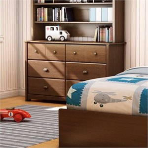 South Shore Nathan Kids Double Dresser in Sumptuous Cherry Finish