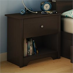 South Shore Breakwater Nightstand in Chocolate Finish