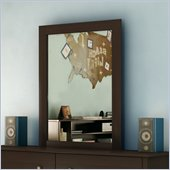 South Shore Breakwater Vertical Mirror in Chocolate Finish
