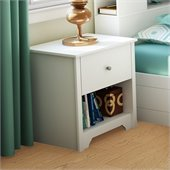 South Shore Breakwater Nightstand in Pure White Finish