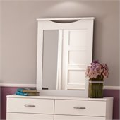 South Shore Maddox Vertical Mirror in Pure White Finish