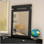 South Shore Affinato Vertical Mirror in Solid Black Finish