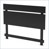 South Shore Affinato Full / Queen Panel Headboard in Solid Black Finish
