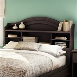 South Shore Summer Breeze Full Bookcase Headboard in Chocolate Finish