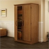 South Shore Park 2 Door Storage Cabinet in Morgan Cherry Finish
