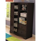 South Shore Handover Door Chest in Espresso Finish