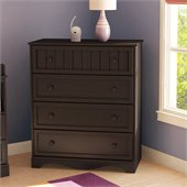South Shore Handover 4 Drawer Chest in Espresso Finish