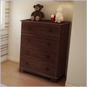 South Shore Sunny 4 Drawer Dresser in Royal Cherry Finish