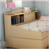 South Shore Drew Storage Headboard in Natural Maple Finish