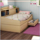 South Shore Drew Twin Mates 39 Bed in Natural Maple Finish