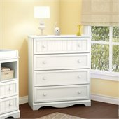 South Shore Handover 4 Drawer Chest in Pure White Finish