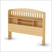 South Shore Newton Collection Full Bookcase Headboard in Natural Maple