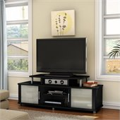 South Shore City Life 59 TV Stand in Pure Black