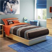 South Shore Libra Kids Twin Platform Bed in Natural Maple