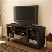 South Shore Aidan TV Stand in Matte Brown