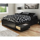South Shore Full Storage Bed in Pure Black