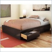 South Shore Full Storage Bed in Chocolate