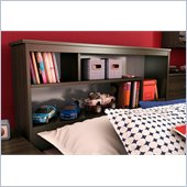 South Shore McLaren Twin Bookcase Headboard in Mocha