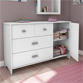 South Shore Sabrina 3 Drawer Single Dresser in Pure White