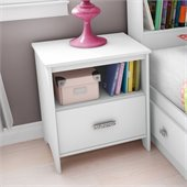 South Shore Sabrina Nightstand in Pure White