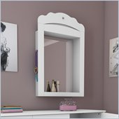 South Shore Sabrina Wall Mounted Mirror in Pure White