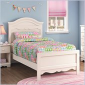 South Shore Summer Breeze Twin Panel Bed in White Wash