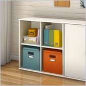 South Shore Stor It 4 Cubby Storage Unit in Pure White