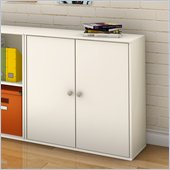 South Shore Stor It 4 Cubby Storage Unit with Doors in Pure White