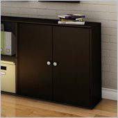 South Shore Stor It 4 Cubby Storage Unit with Doors in Chocolate