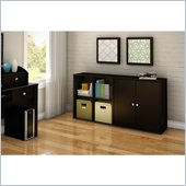 South Shore Stor It 2 Piece Storage Unit in Chocolate