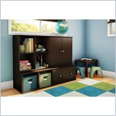 South Shore Stor It 4 Piece Storage Unit in Chocolate