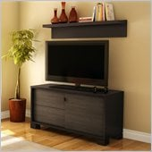 South Shore Agora TV Stand in Chocolate Finish