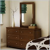 South Shore Concord Dresser and Mirror Set in Sumptous Cherry