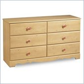 South Shore Lily Rose Double Dresser in Romantic Pine