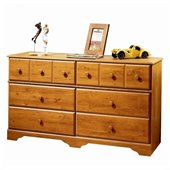 South Shore Amesbury Double Dresser in Country Pine