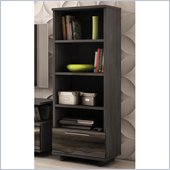 South Shore Reflekt 4-Shelf Bookcase in Gray Oak Finish