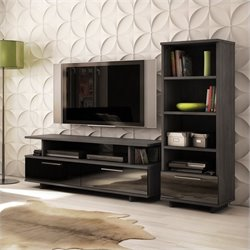 South Shore Reflekt TV Stand in Gray Oak Finish