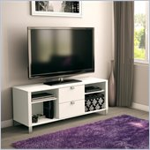 South Shore Affinato Contemporary TV Stand in White