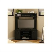 South Shore Vertex Transitional Corner TV Stand in Ebony
