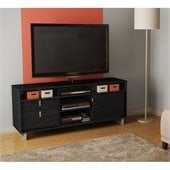 South Shore Uber Cottage TV Stand in Black Oak